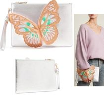 SOPHIA WEBSTER Plain Other Animal Patterns Leather Clutches