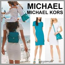 Michael Kors Short Casual Style Tight Plain Short Sleeves Dresses