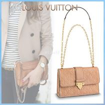 Louis Vuitton SAINT SULPICE Monoglam Blended Fabrics 3WAY Chain Leather Elegant Style