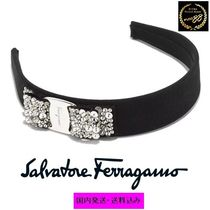 Salvatore Ferragamo Blended Fabrics Brass Elegant Style Hair Accessories