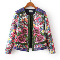 Short Flower Patterns Casual Style Jackets