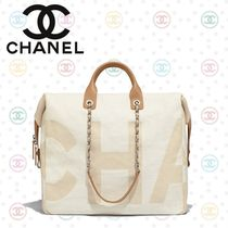 CHANEL Casual Style Calfskin 2WAY Plain Handbags