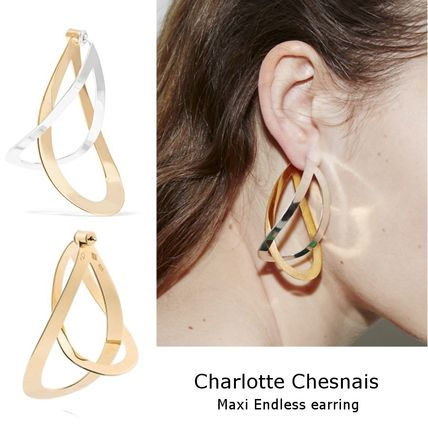 s collective jewellery b gold chesnais women charlotte plated earrings vestiaire