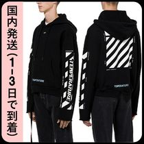 Off-White Pullovers Street Style Bi-color Long Sleeves Plain Cotton