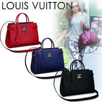 Louis Vuitton EPI A4 2WAY Plain Leather Elegant Style Totes