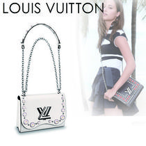 Louis Vuitton EPI Casual Style 2WAY Chain Plain Leather With Jewels