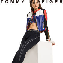 Tommy Hilfiger Short Casual Style Street Style Collaboration Leather