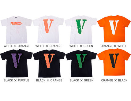 VLONE Crew Neck Crew Neck Unisex Street Style Cotton Short Sleeves 8