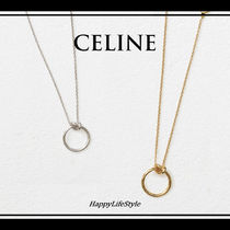 CELINE Brass Elegant Style Necklaces & Pendants