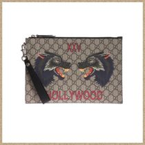 GUCCI Cambus Other Animal Patterns Clutches