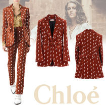 Chloe Casual Style Suede Other Animal Patterns Medium Jackets