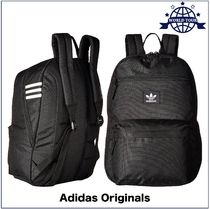 adidas Stripes Unisex Nylon A4 2WAY Plain Backpacks