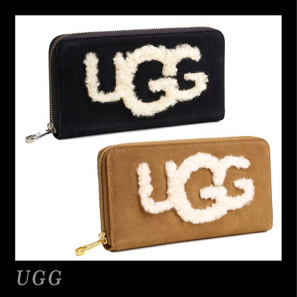 Monoglam Suede Plain Long Wallets