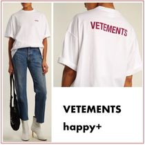 VETEMENTS Casual Style Street Style Cotton Short Sleeves T-Shirts