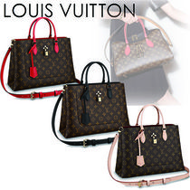 Louis Vuitton Monogram Canvas Blended Fabrics A4 2WAY Office Style Totes