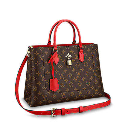 Louis Vuitton Totes Monogram Canvas Blended Fabrics A4 2WAY Office Style Totes 2