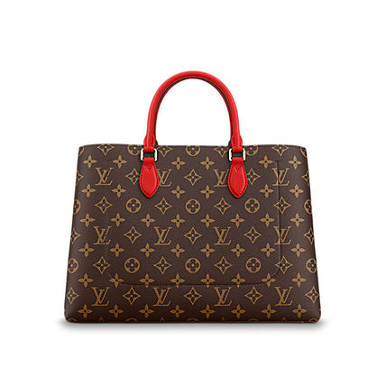 Louis Vuitton Totes Monogram Canvas Blended Fabrics A4 2WAY Office Style Totes 6