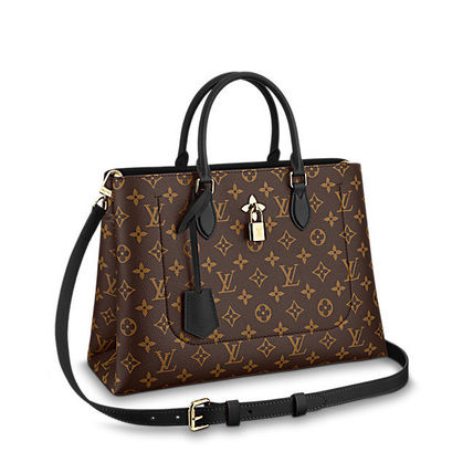 Louis Vuitton Totes Monogram Canvas Blended Fabrics A4 2WAY Office Style Totes 7