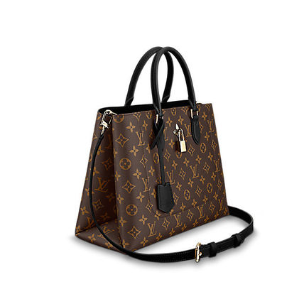 Louis Vuitton Totes Monogram Canvas Blended Fabrics A4 2WAY Office Style Totes 8