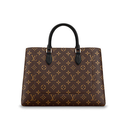 Louis Vuitton Totes Monogram Canvas Blended Fabrics A4 2WAY Office Style Totes 11