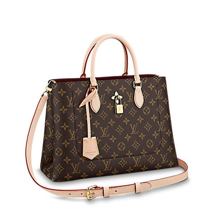 Louis Vuitton Totes Monogram Canvas Blended Fabrics A4 2WAY Office Style Totes 12