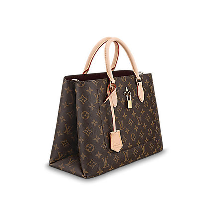 Louis Vuitton Totes Monogram Canvas Blended Fabrics A4 2WAY Office Style Totes 13