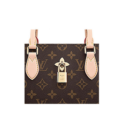 Louis Vuitton Totes Monogram Canvas Blended Fabrics A4 2WAY Office Style Totes 14