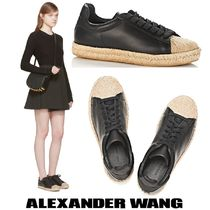 Alexander Wang Casual Style Blended Fabrics Leather Low-Top Sneakers