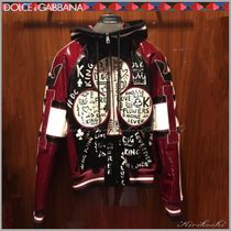 Dolce & Gabbana Short Leather Biker Jackets