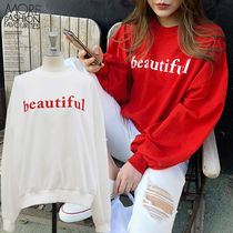 NANING9 Casual Style Long Sleeves Cotton Medium Oversized Sweaters