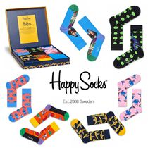 happy socks Unisex Street Style Cotton Socks & Tights