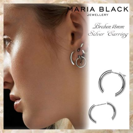 Unisex Silver Earrings & Piercings
