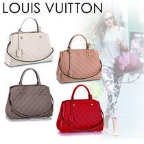 Louis Vuitton MONOGRAM EMPREINTE Monogram A4 2WAY Plain Leather Office Style Totes