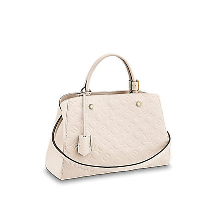 Louis Vuitton Totes Monogram A4 2WAY Plain Leather Office Style Totes 2