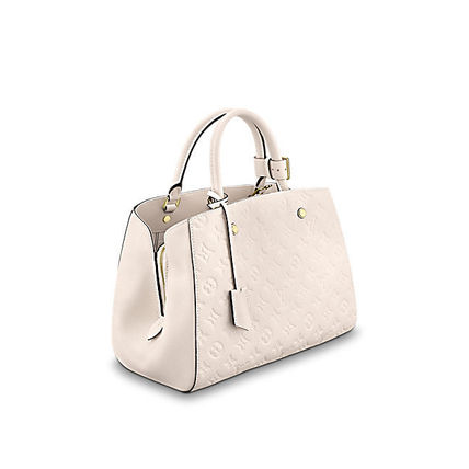 Louis Vuitton Totes Monogram A4 2WAY Plain Leather Office Style Totes 3