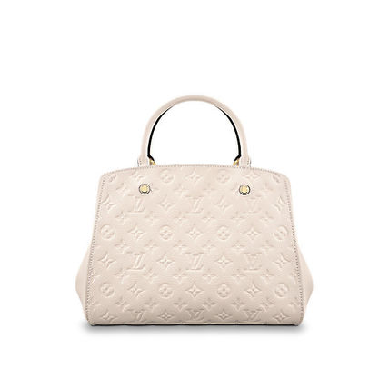 Louis Vuitton Totes Monogram A4 2WAY Plain Leather Office Style Totes 6