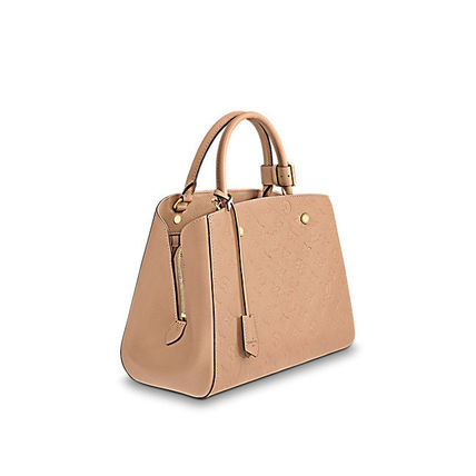 Louis Vuitton Totes Monogram A4 2WAY Plain Leather Office Style Totes 8
