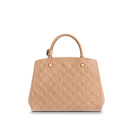 Louis Vuitton Totes Monogram A4 2WAY Plain Leather Office Style Totes 11