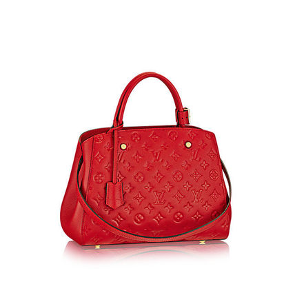 Louis Vuitton Totes Monogram A4 2WAY Plain Leather Office Style Totes 14