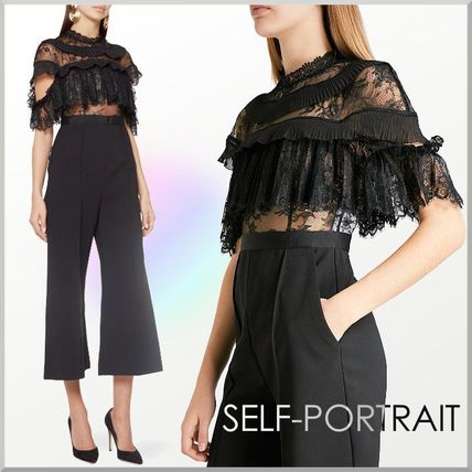 Tight Plain Long Short Sleeves Party Style High-Neck Lace