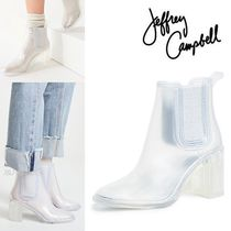 Jeffrey Campbell Casual Style Plain Chelsea Boots PVC Clothing