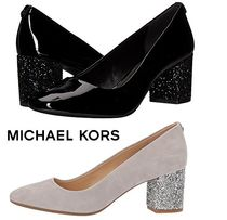 Michael Kors Round Toe Casual Style Street Style Plain Leather