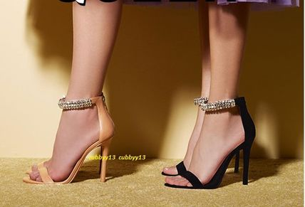 c2bf34714a2 ... Steve Madden Heeled Open Toe Blended Fabrics Plain Leather Pin Heels 2  ...
