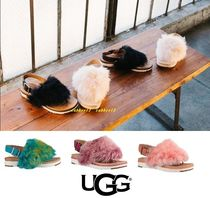 UGG Australia HOLLY Open Toe Casual Style Sheepskin Street Style Plain Sandals