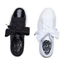 PUMA BASKET HEART Casual Style Plain Low-Top Sneakers