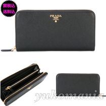 PRADA SAFFIANO VERNICE Long Wallets