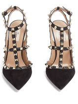 VALENTINO Suede Studded High Heel Pumps & Mules