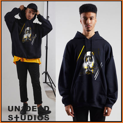 Pullovers Sweat Street Style Bi-color Long Sleeves Oversized