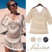 Plain Oversized Beach Cover-Ups