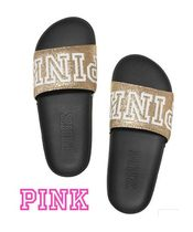Victoria's secret PINK Open Toe Casual Style Street Style Sport Sandals Glitter